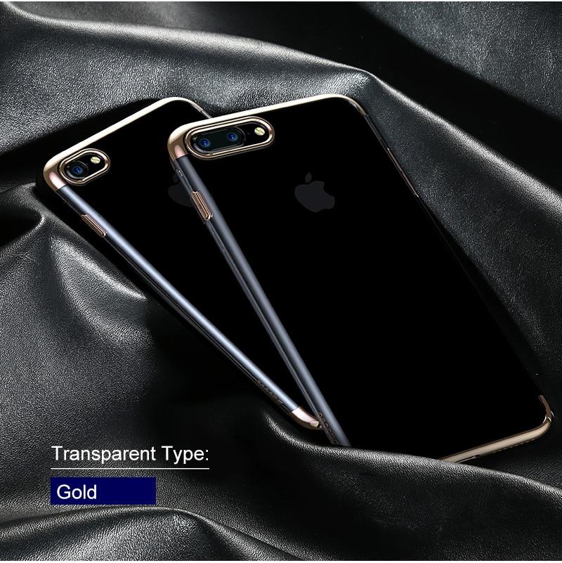 Baseus pc hard case dla iphone 7 pokrywa dla iphone 7 plus case anti-scratch galwanizacja telefon torba ochronna shell coque 13