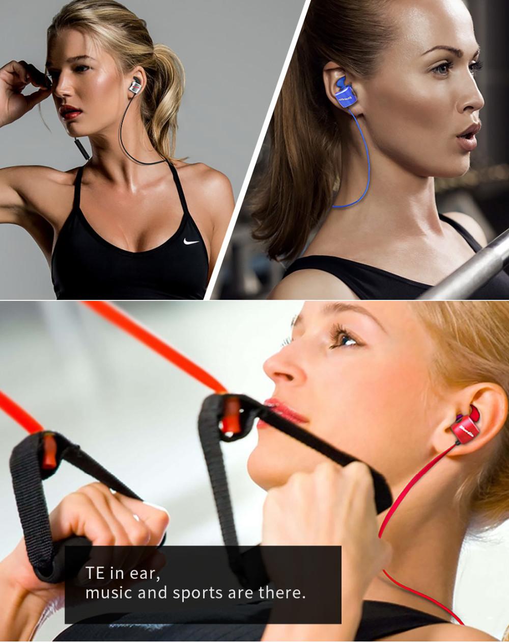 Te bluedio sport zestaw słuchawkowy bluetooth/pot dowód słuchawki bezprzewodowe słuchawki douszne earbuds wbudowany mikrofon 3