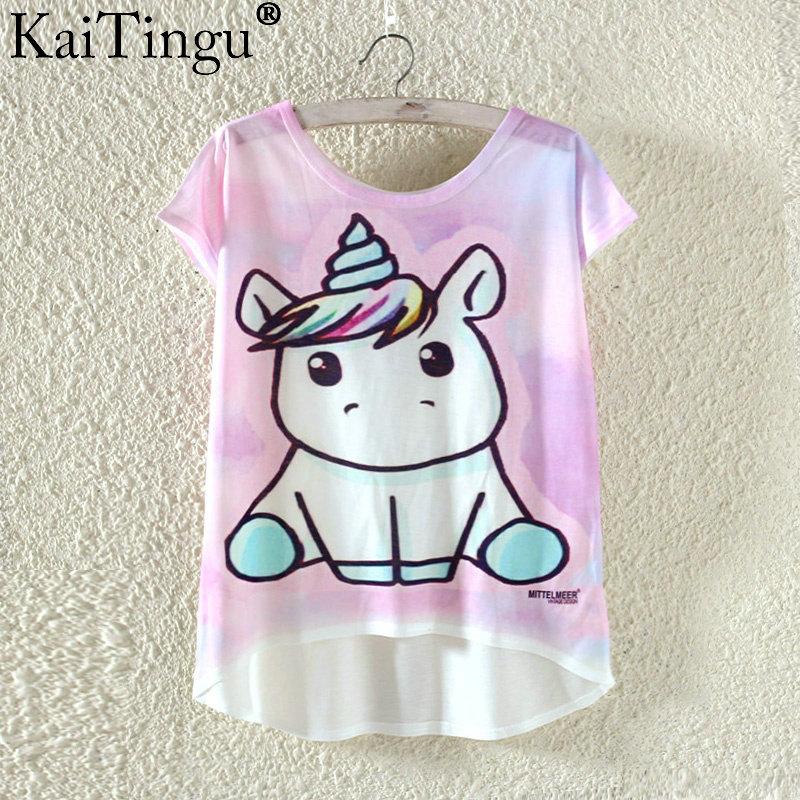 Kaitingu kawaii śliczne t koszula moda lato harajuku wysoki niski styl cat print t-shirt z krótkim rękawem t shirt kobiet topy plus size 15