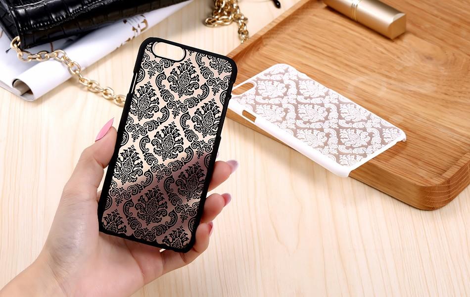 Kisscase retro elegancki wzór case dla iphone 6 6s plus samsung galaxy s7 edge s6 krawędzi uwaga 4 5 samsung e5 e7 a3 a5 a7 a8 j5 j7 23