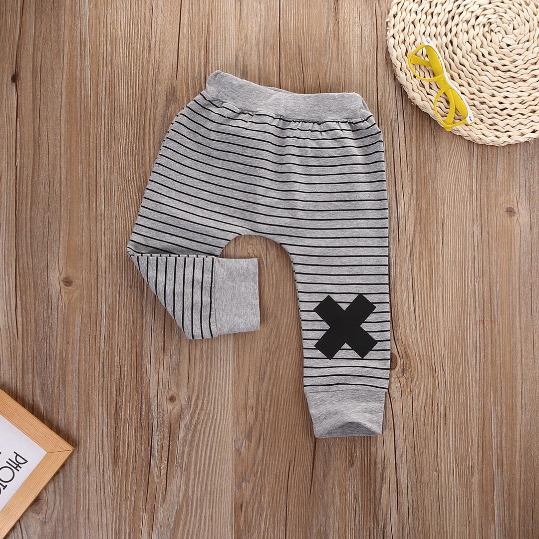 0-2Y Boys Baby Dziewczyny Cute Paski Potwór Dolne Spodnie Legginsy Spodnie Harem Dzieci Spodni 4