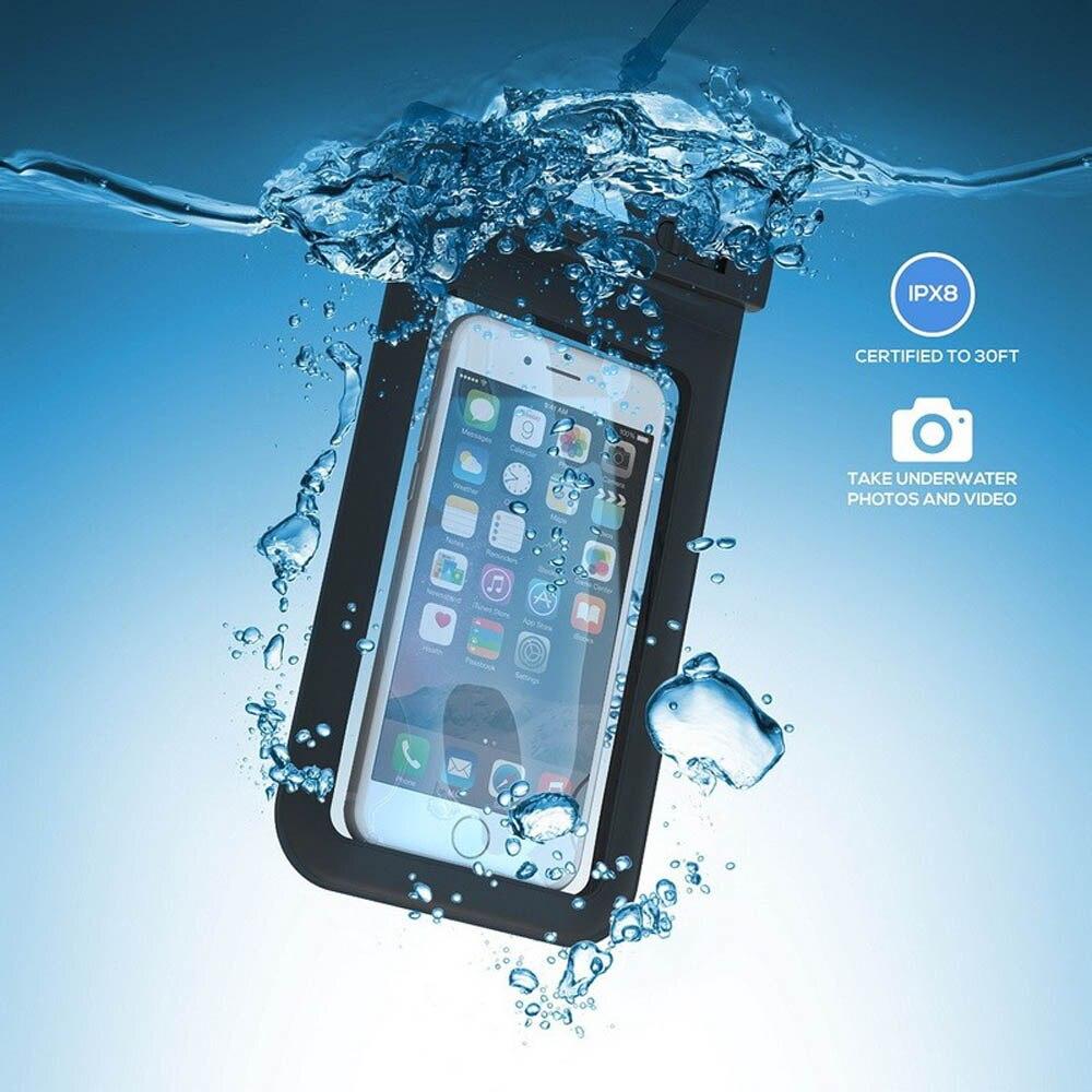 100% uszczelnione wodoodporna torba case pokrowiec etui na telefony dla iphone 7 6 6 s plus 5S samsung galaxy s7 s6 s5 s4 krawędzi plus mobilnej telefony 2