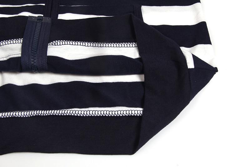 Moda damska Stripes Casual Zipper Bluzy Z Kapturem Kieszeni Kobiety Bluza Plus Rozmiar S-5XL LJ7847R 16