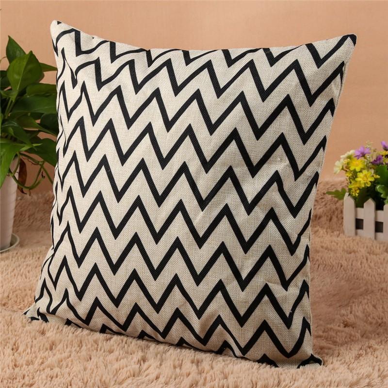 4 Types 45*45cm Vintage Fashion Cotton Linen Cushion Cover Throw Pillow Case Sofa Car Decor Cushion Cover 2