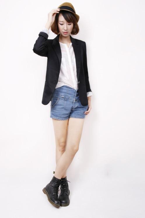 NOWY blazer kobiety kostiumu blezer składana marka kurtka wykonana z bawełny i elastanu z podszewką Vogue odśwież blazers 10