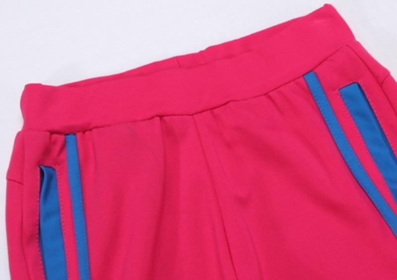 Tlzc stójka lady popular sportswear 2 sztuk zestaw żakiet + spodni plus rozmiar l-5xl patchwork styl kobiety casual dresy 5