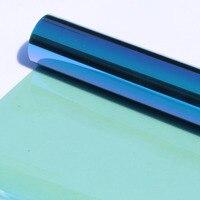 SUNICE 152cmX30cm 블루 & 그린 색조 자동차 홈 윈도우 색조 VLT 55% 열 + 적외선 거부 필름 2ply 카멜레온 자동차 착색 장식