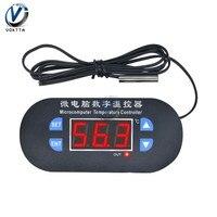 W1308 AC 110-220V DC 12V Temperature Controller termometer Sensor Meter LED Display thermostat with NTC Sensor Port