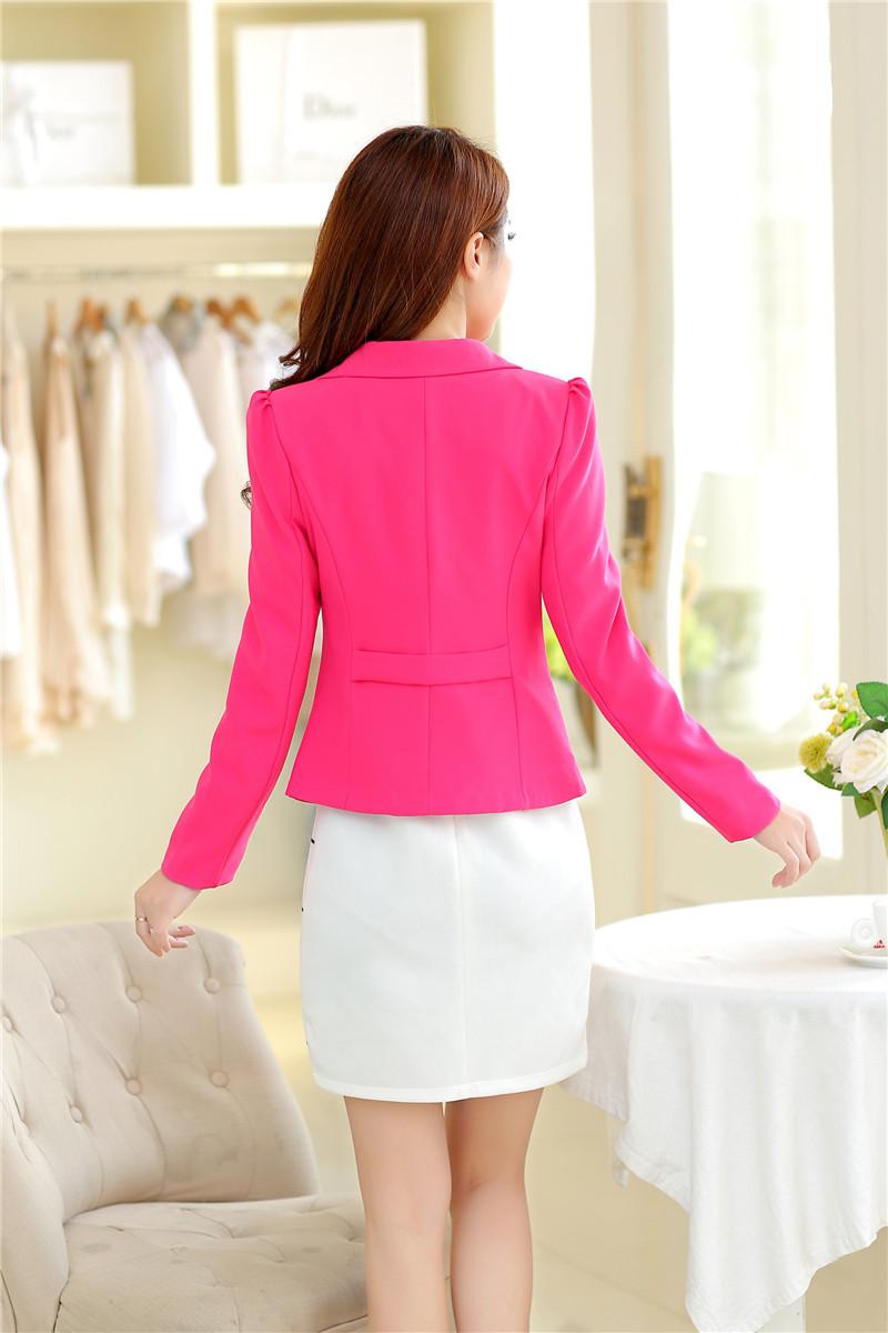 RealShe 2016 Kobiet Kurtki Długi Rękaw Garnitur Marynarka damska Marynarka Casual Mujer Feminina Plus Size Blazer Feminino Kurtki 30