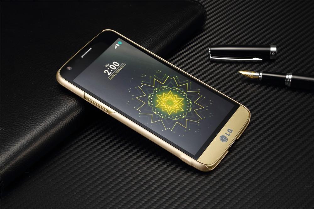 Luksusowa marka ultra thin Nowy siatka powrót pokrywy skrzynka dla LG przypadkach i pokrowce na g5 G5 oryginalne akcesoria 6
