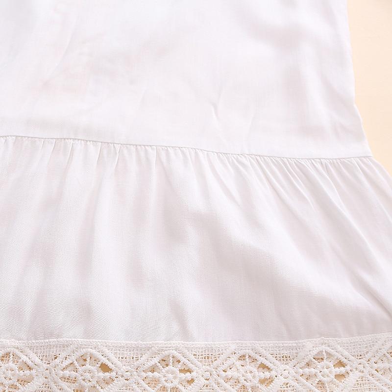 2017 bohemian style kobiety lato white dress sexy dorywczo v szyi 3/4 flare rękaw koronki szydełko loose mini sukienki plażowe vestidos 15