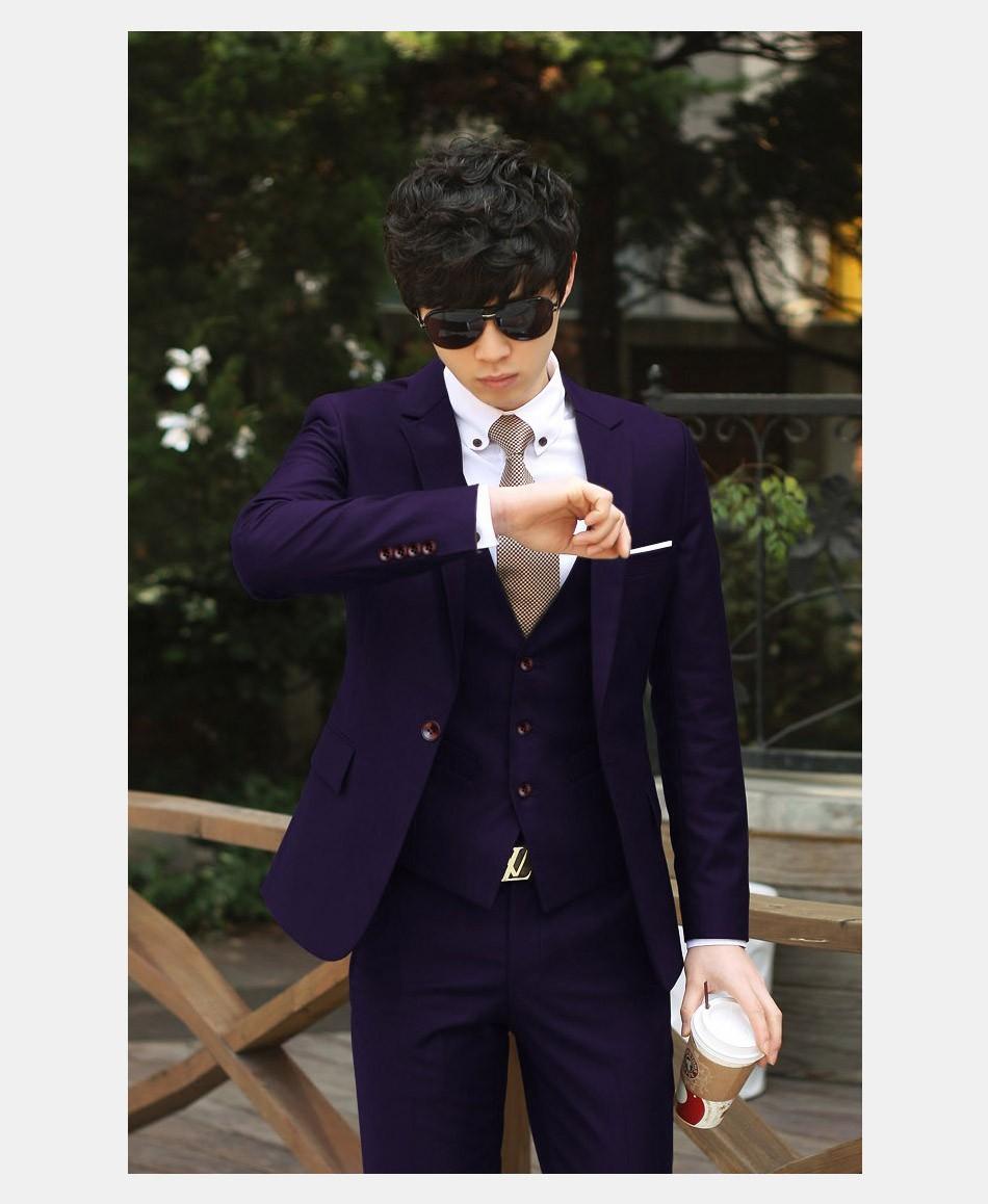(Kurtka + Spodnie + Tie) luksusowe Mężczyzn Garnitur Mężczyzna Blazers Slim Fit Garnitury Ślubne Dla Mężczyzn Kostium Biznes Formalne Party Niebieski Klasycznej Czerni 13