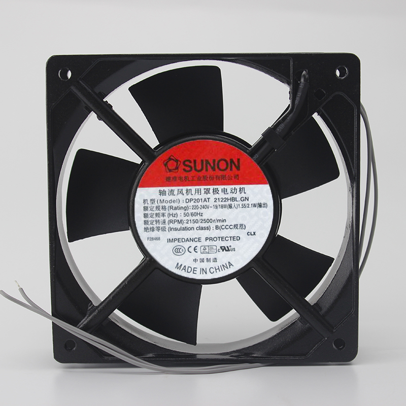 Original SUNON 125 12CM 2V DP1AT-2122HBL.GN 1 long * 1 wide * 25 thick double ball cooling fan