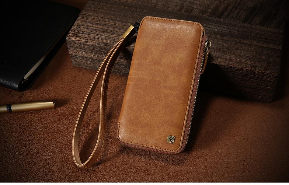 Floveme vintage wallet case dla iphone 6 6 s 7 plus skórzanej oprawie zipper torebka posiadacza karty retro przypadki telefonów dla iphone 6 6 s 7 13