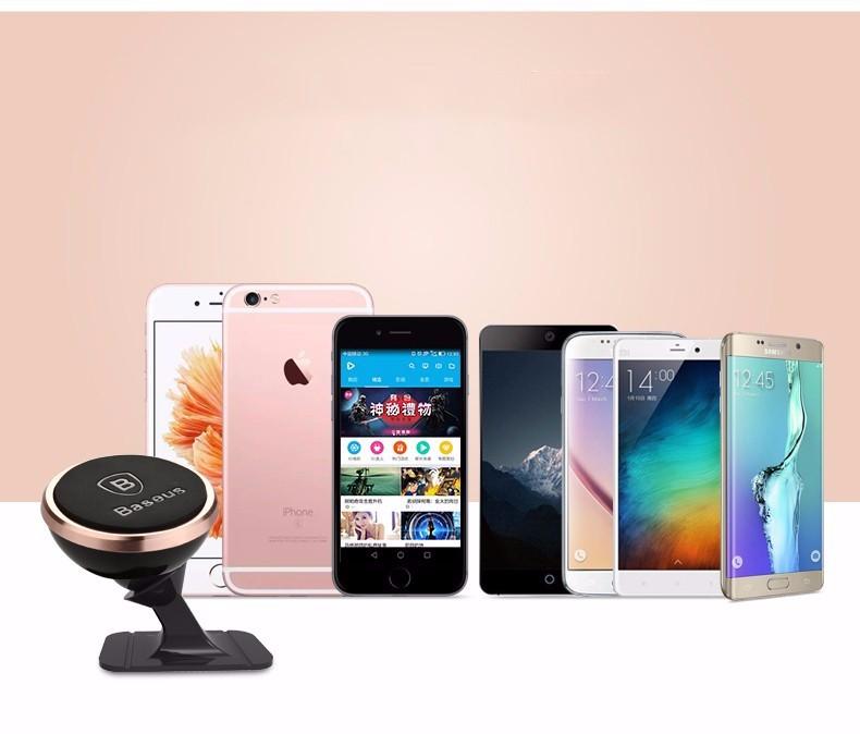 Oryginalny baseus uniwersalny magnetyczny obrót o 360 stopni uchwyt magnetyczny uchwyt samochodowy uchwyt telefonu dla iphone samsung smartphone gps 7