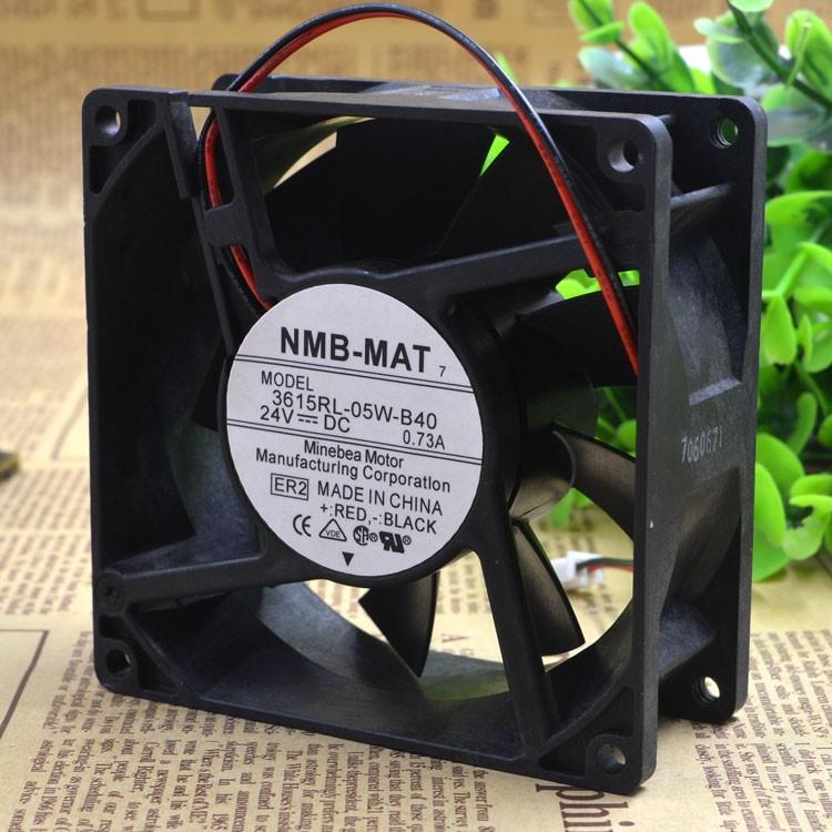 Free Shipping Nmb-mat 3615rl-05w-b40 9038 9cm waterproof inverter fan 24v 0.73a