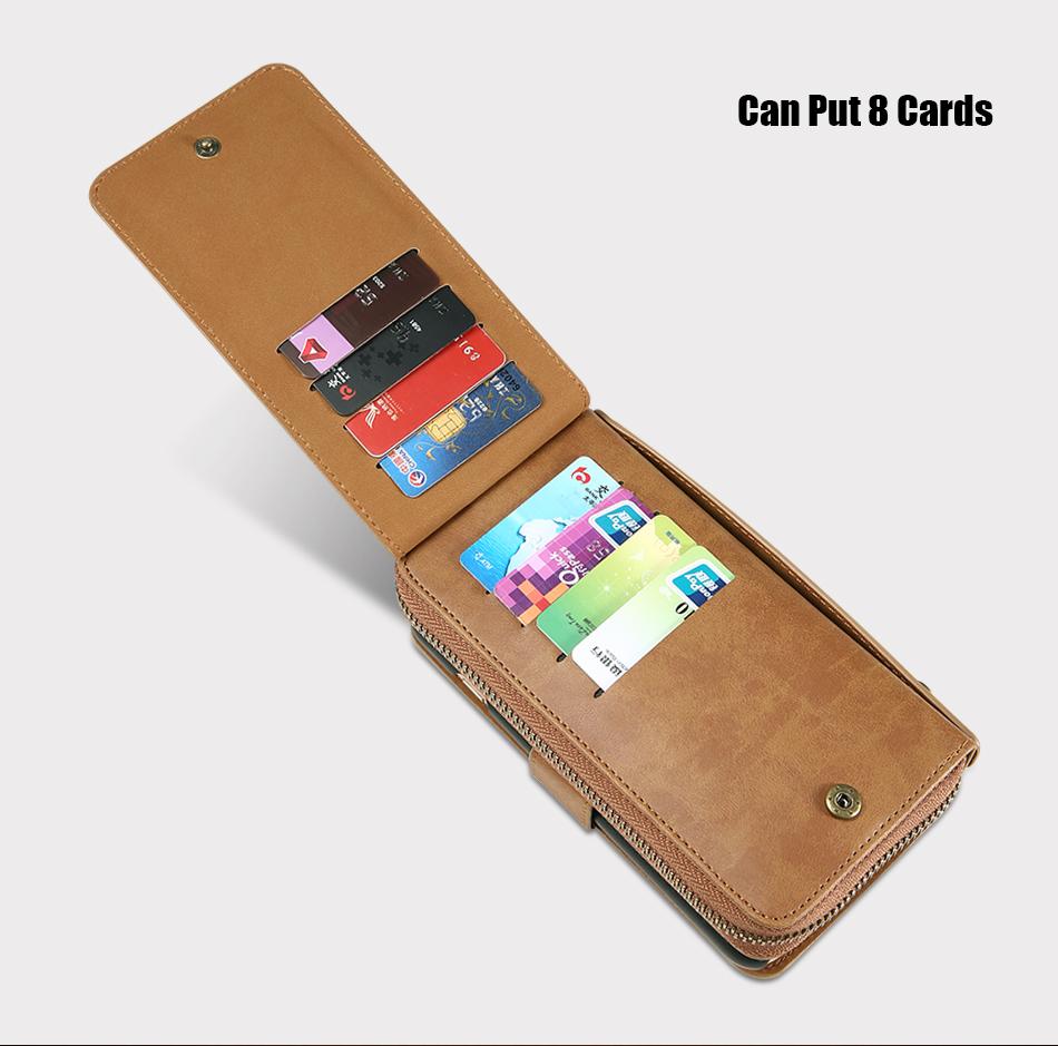 Floveme vintage leather wallet phone case for iphone 7 7 plus 6 6 s plus retro torebka slot kart pokrywa dla samsung s7 s8 coque 10