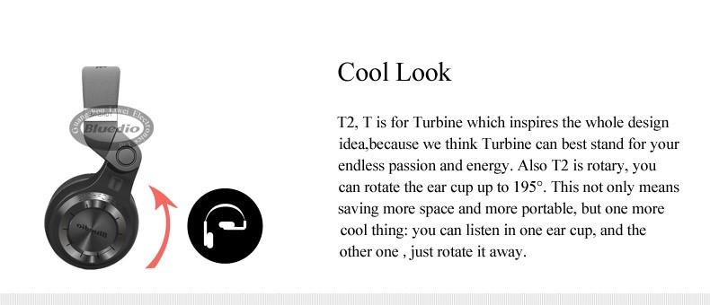 Oryginalne słuchawki bezprzewodowe bluetooth 4.1 zestaw słuchawkowy bluetooth stereo bluedio t2 hurrican serii na ucho słuchawki 4