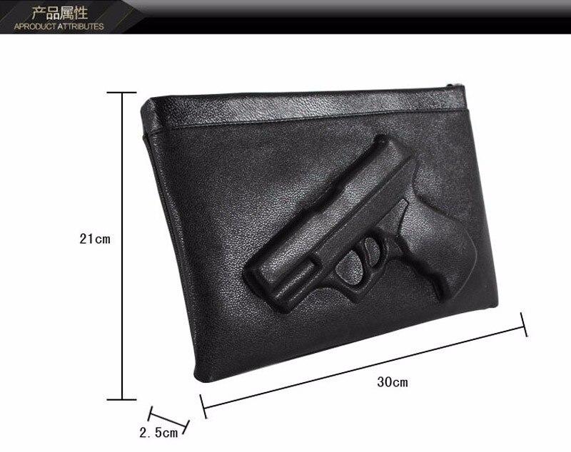 3D Gun prindiga nahast õhuke käekott