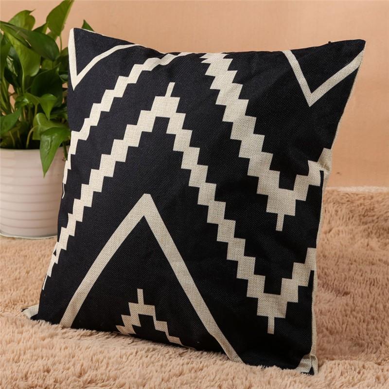 4 Types 45*45cm Vintage Fashion Cotton Linen Cushion Cover Throw Pillow Case Sofa Car Decor Cushion Cover 7