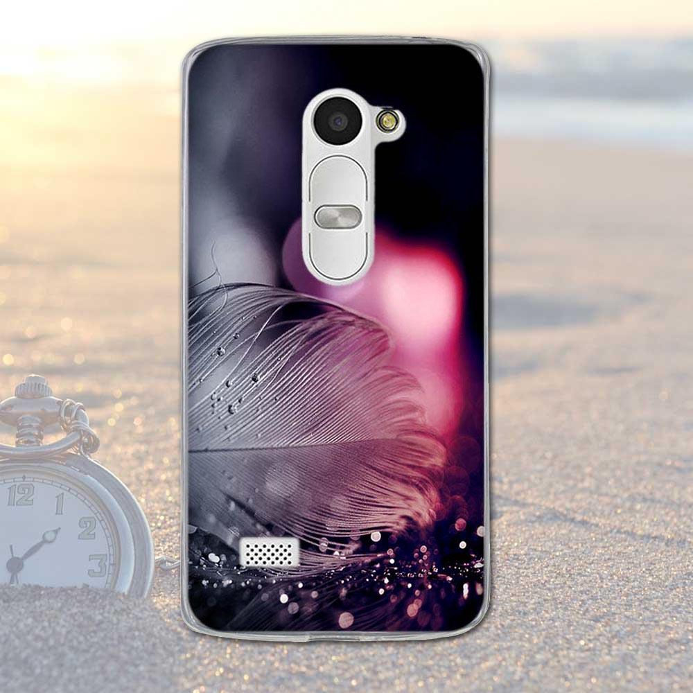 Fundas telefon case pokrywa dla lg leon 4g lte h340n c50 c40 miękka tpu krzemu kwiaty zwierzęta dekoracje mobile phone bag pokrywa dla lg 12