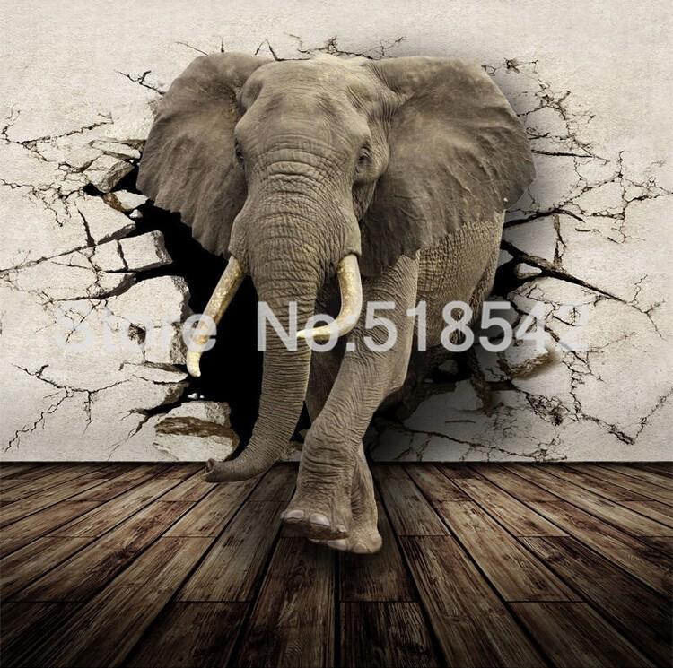 Dostosowane fototapety 3d realistyczne mural nosorożec zwierząt lew słonie włókniny sypialnia mural home decor tapety ścienne 3d 4
