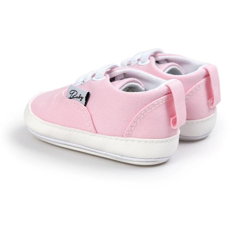 Wiosna Jesień Dziecko Noworodka Dziewczynka Chłopiec Miękkie Podeszwy antypoślizgowe Maluch Prewalker Niemowląt Sneaker Buty Na Co Dzień 35