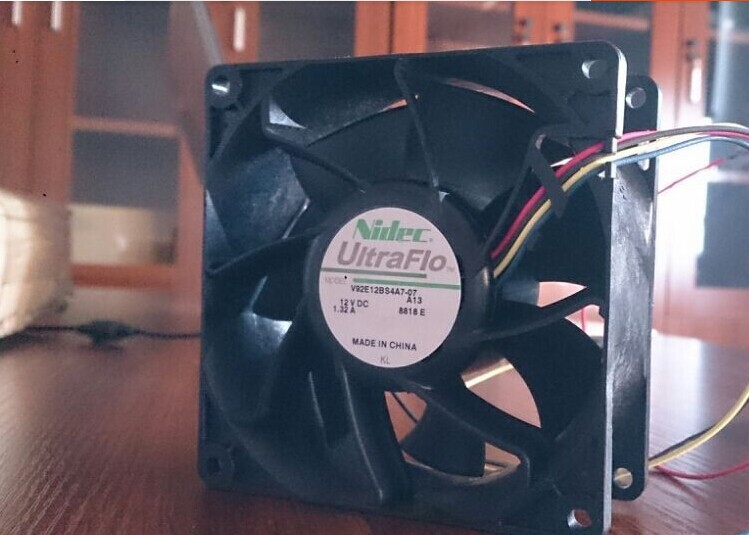 Wholesale: T350G7 NIDEC 9238 12V 1.32A V92E12BS4A7-07 chassis fan fan