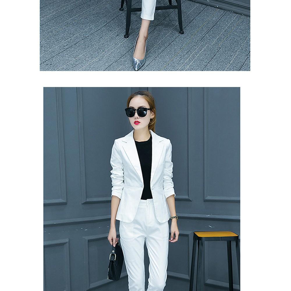 2017 w nowym stylu mody OL eleganckie kobiety pant suits formalna firm garnitur nosić pełne rękawem jednego przycisku femme blazer garnitur szczupła kurtka 13