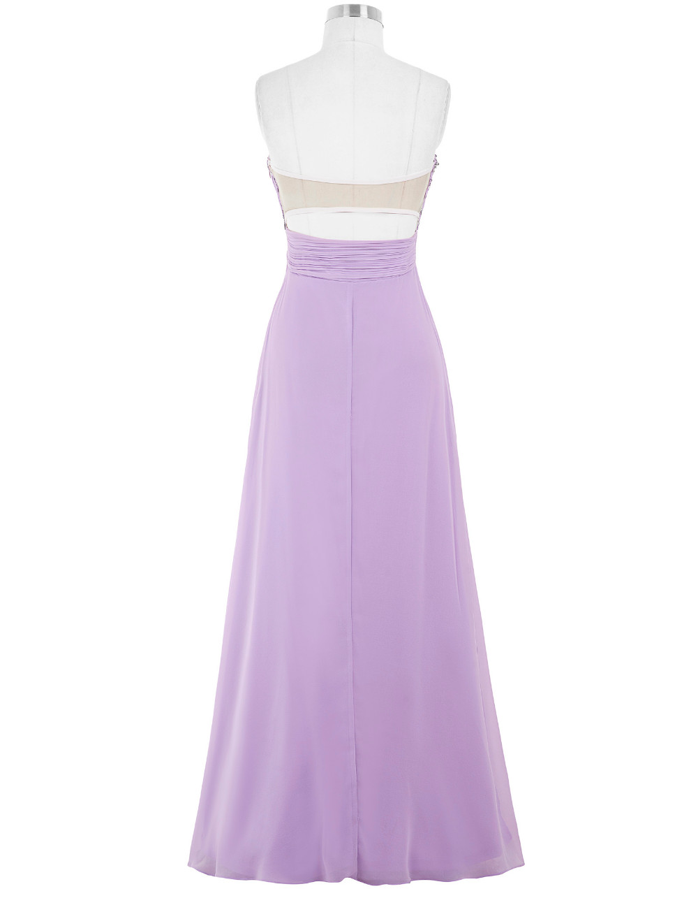 Lavender Green Royal Blue Long Chiffon Bridesmaid Dress 3