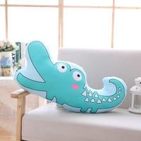 large 60x27cm creative cartoon crocodile plush pillow toy sofa cushion zipper closure washable soft pillow birthday gift s2822