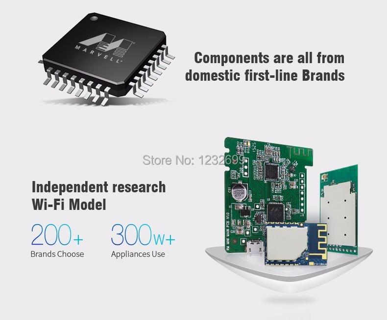 Oryginalny Mini3 Uniwersalny Inteligentny WiFi Broadlink RM/IR/4G Bezprzewodowego Pilota zdalnego sterowania Poprzez IOS Android Inteligentnego Domu automatyki 11