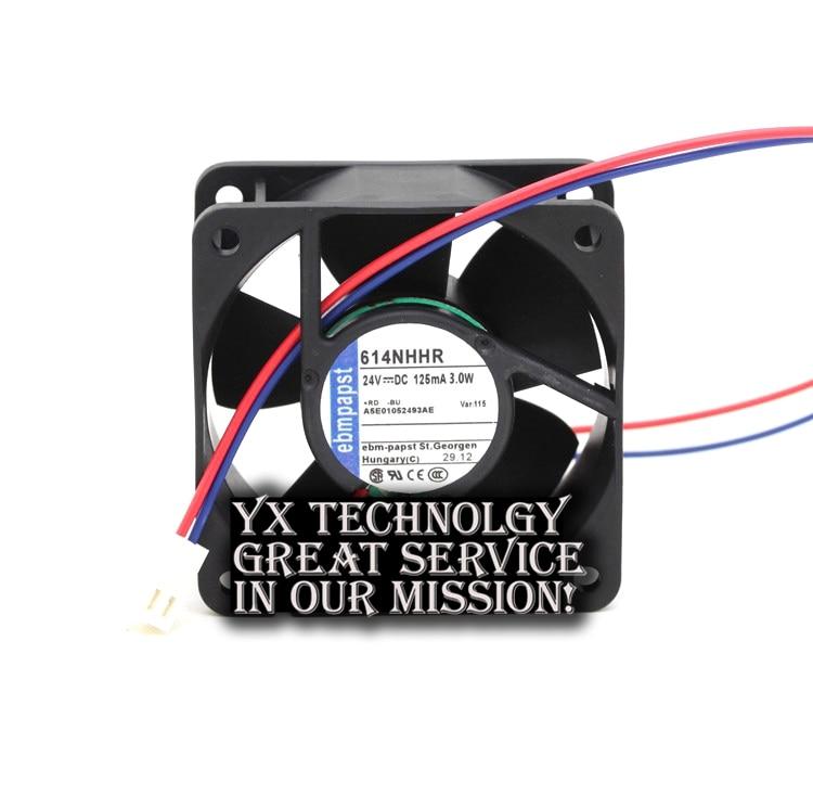 60*60*25mm 2-wire 6CM 6025 24V 3.0W 614NHHR inverter cooling fan for ebmpapst