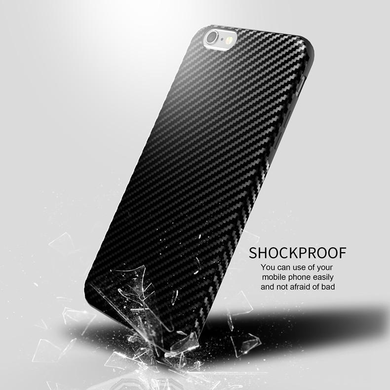 Najnowszy środowiska carbon fiber case dla iphone 6 6s plus miękkie antypoślizgowa anti-puk pokrywy dla iphone 7/plus skóra skóra torba 6