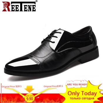 01f98bf689 2018 Formal Shoes Men Pointed Toe Men Dress Shoes Leather Men Oxford