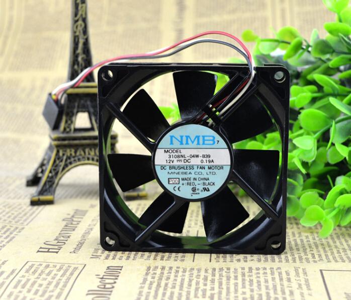 The original MNB 3108NL-04W-B39 12V 0.19A 8CM 80*80* 3 line cooling fan