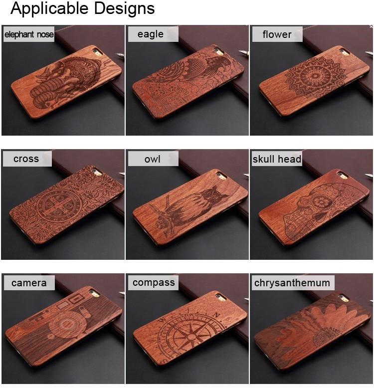 U & i marka cienki luksusowe natural wood telefon case for iphone 5 5s 6 6 s 6 plus 6 s plus 7 7 plus pokrywa drewniane wysokiej jakości, odporna na wstrząsy 4