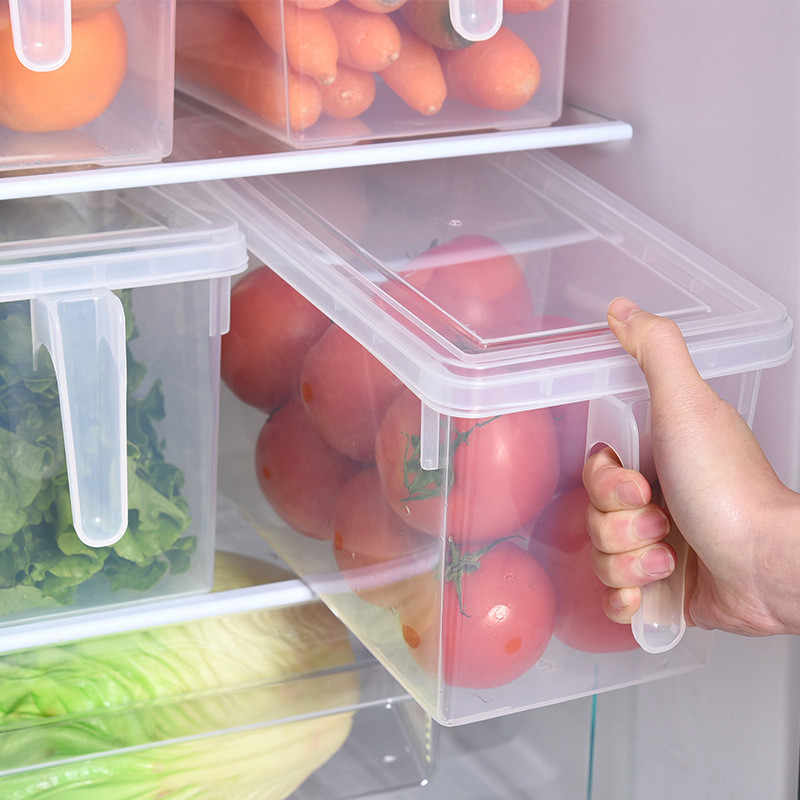 Kitchen Transparent PP Storage Box Grains Beans Storage Contain Sealed Home Organizer Food Container Refrigerator Storage Boxes