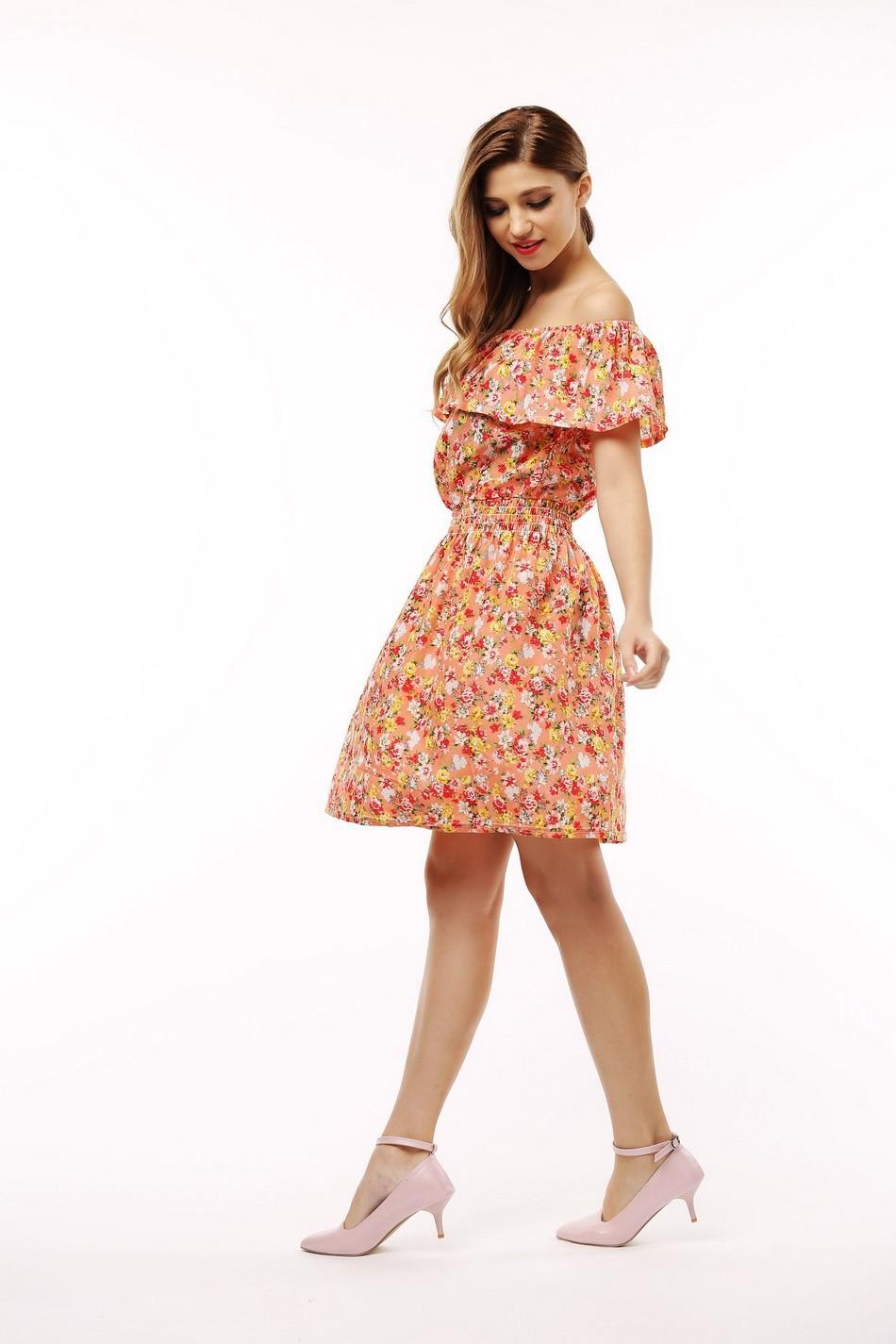 2017 fashion nowa wiosna lato plus size odzież kobiet floral print wzór sukienki na co dzień vestidos wc0472 16