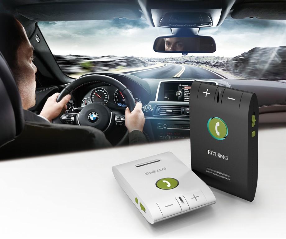 Bluetooth Zestaw Głośnomówiący Bluetooth Zestaw Głośnomówiący Zestaw Samochodowy z Ładowarką Samochodową A2DP Bezprzewodowy telefon Auto obsługa głosowa Połączeń ID raport 3