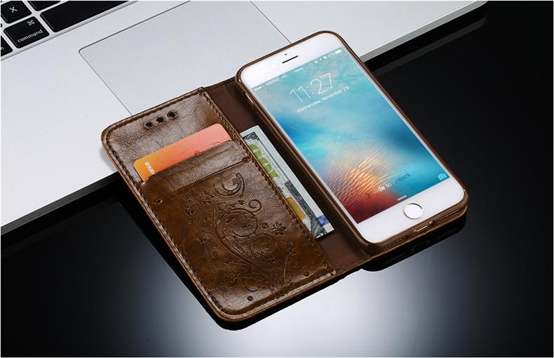 Skórzane etui z klapką telefon case for iphone 7 plus 6 s plus 5S 4S samsung galaxy S3 S4 S5 S6 S7 S8 Krawędzi Plus Uwaga 3 4 5 Karty Telefon torby 5