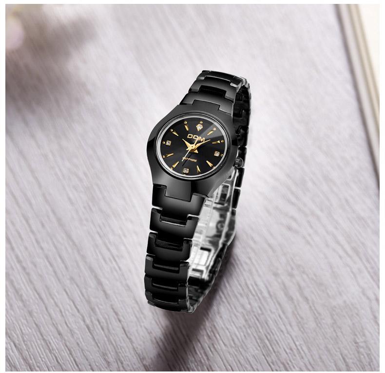 Hk dom luksusowe top marka męska zegarek wolframu stal wrist watch wodoodporna biznesu kwarcowy zegarek fashion casual sport watch 16