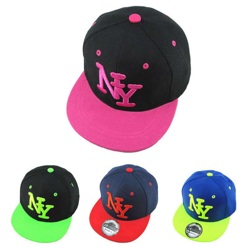 c8a26bc6c20  HEAD BEE  2018 Children NY Letters Baseball Cap Snapbacks Hip Hop Cap  Fashion Flat