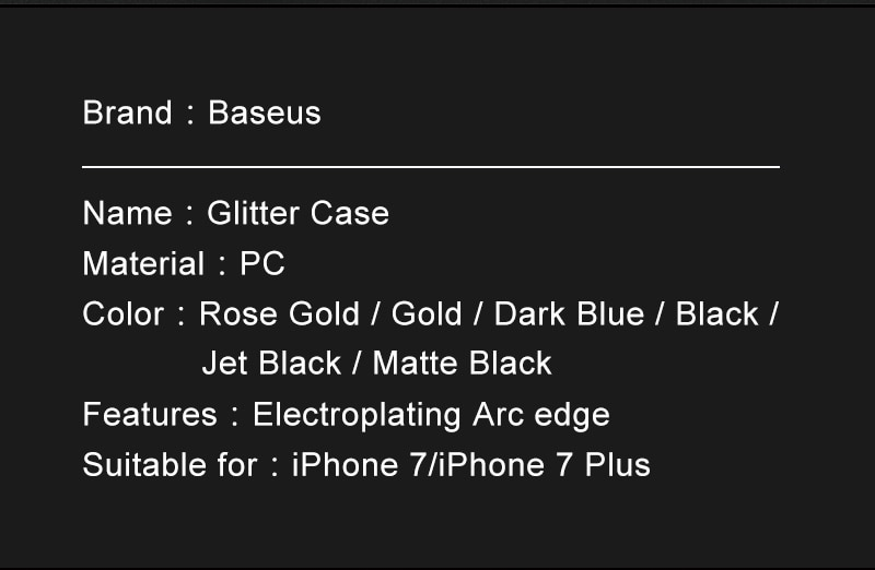 Baseus pc hard case dla iphone 7 pokrywa dla iphone 7 plus case anti-scratch galwanizacja telefon torba ochronna shell coque 3