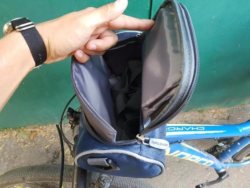 Wodoodporny Ekran Dotykowy Sakwy Rowerowe Rower Górski Rower Torby Phone Bag Case Rower Szosowy Rura Przednia Kierownica Torba Cylindra 2