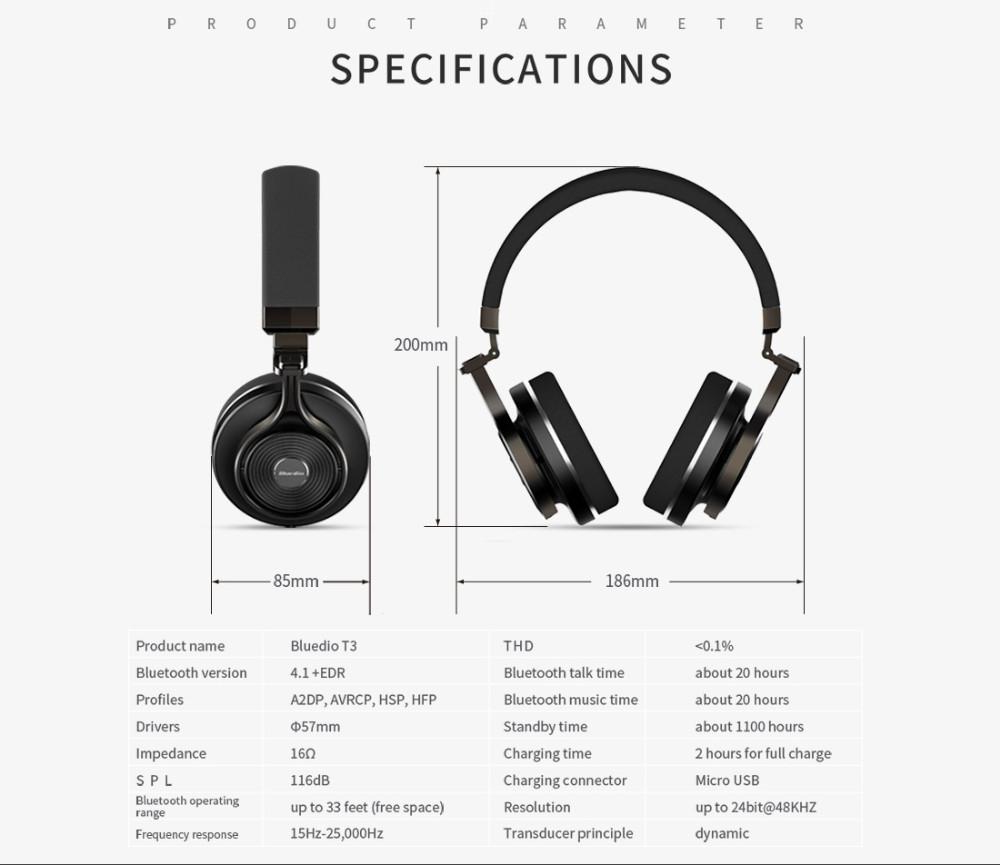 T3 wireless bluetooth bluedio słuchawki/słuchawki z bluetooth 4.1 stereo i mikrofon dla muzyki słuchawki bezprzewodowe 19