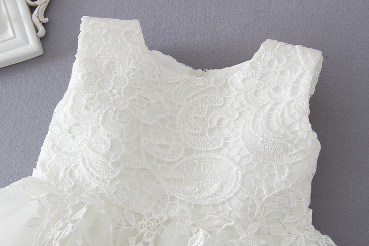 Ivory Tulle Lace Flower Girl Dress 8