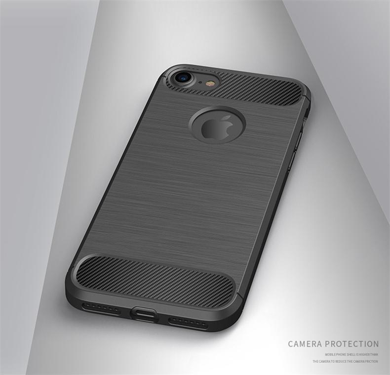 Luksusowe wstrząsoodporny telefon case for iphone 7 7 plus 6 6 s plus 5 5S se case new carbon fiber miękka tpu rysunek phone case back cover 13
