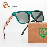 Hu Wood-새로운 고품질 사각형 선글라스, 남자 편광 UV400 패션 선글라스 미러 스포츠 태양 안경 운전 oculos, 2020