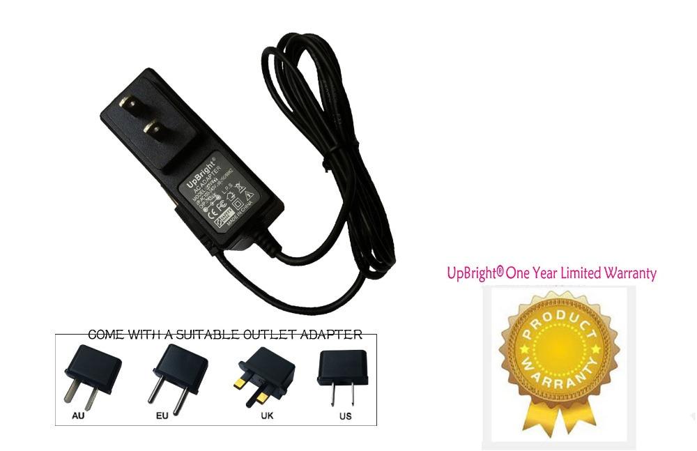 UpBright nuevo AC / DC adaptador para Brookstone HDMI bolsillo DLP portátil proyector de cine en casa cargador con cable de alimentación PSU
